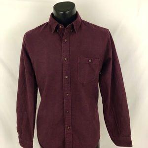 J. Crew Button Up Shirt Flannel Purple Cotton L